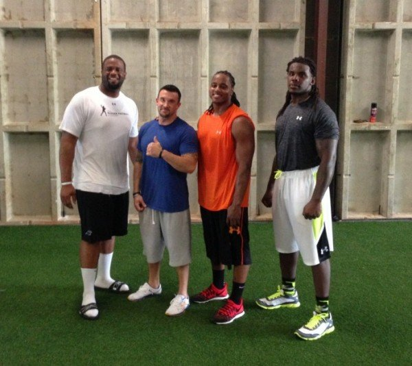 Dezman Moses of the Green Bay Packers, Jordan Berstein of the Washington Redskins, and Frank Kearse of the Carolina Panthers Body creations inc Alabama ndy Mcloy